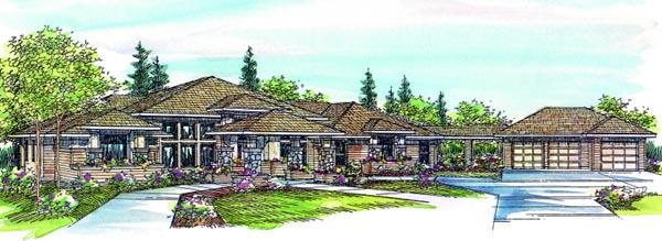 Prairie Style Southwest House Plan 69424 Elevation
