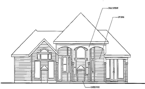 Prairie Style Southwest House Plan 69424 Rear Elevation