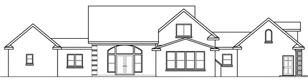 Country House Plan 69425 Rear Elevation
