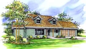 Country House Plan 69426 with 3 Beds, 2.5 Baths, 2 Car Garage Elevation