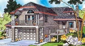 House Plan 69428 | Craftsman Style Plan with 1749 Sq Ft, 2 Bedrooms, 2 Bathrooms, 2 Car Garage Elevation