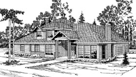 Contemporary Traditional House Plan 69430 Elevation