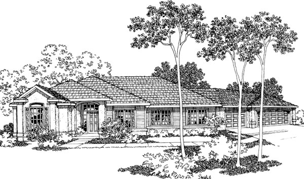 Southwest House Plan 69432 Elevation
