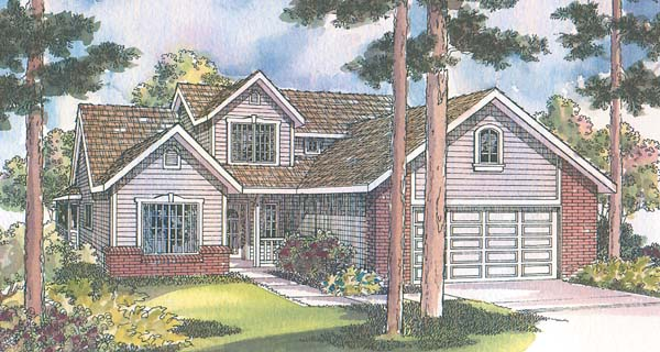 Country House Plan 69433 with 3 Beds, 2.5 Baths, 2 Car Garage Elevation