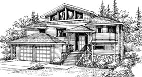 Contemporary House Plan 69436 Elevation