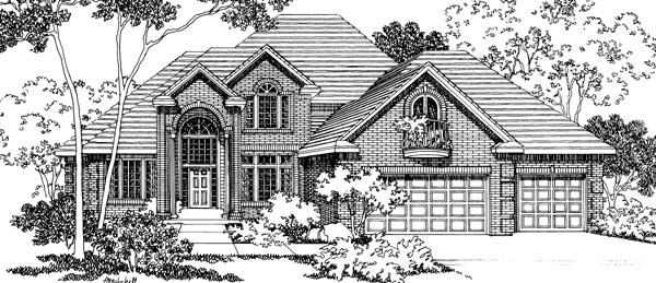 European House Plan 69437 Elevation