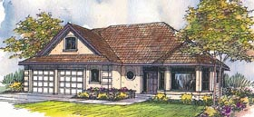 House Plan 69438 | Traditional Style Plan with 2116 Sq Ft, 3 Bedrooms, 2.5 Bathrooms, 3 Car Garage Elevation