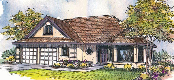 Traditional House Plan 69438 Elevation