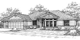 House Plan 69439 | Traditional Style House Plan with 2582 Sq Ft, 4 Bed, 2.5 Bath, 3 Car Garage Elevation