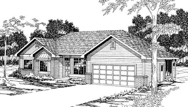 Traditional House Plan 69441 Elevation