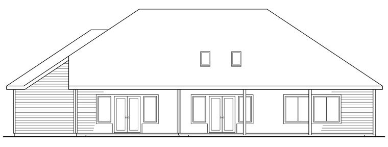 Traditional House Plan 69446 Rear Elevation