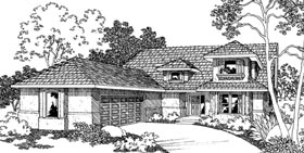 Contemporary House Plan 69447 Elevation