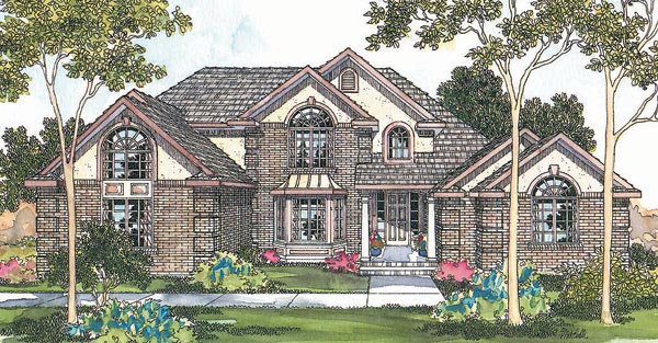 Tudor House Plan 69449 Elevation