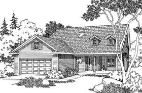 Country House Plan 69453 with 3 Beds, 2.5 Baths, 2 Car Garage Elevation