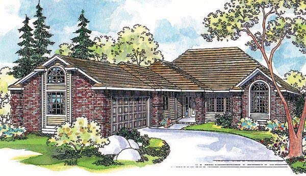 European House Plan 69457 Elevation