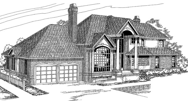 European House Plan 69459 Elevation