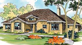 Traditional House Plan 69462 with 3 Beds, 2.5 Baths, 3 Car Garage Elevation