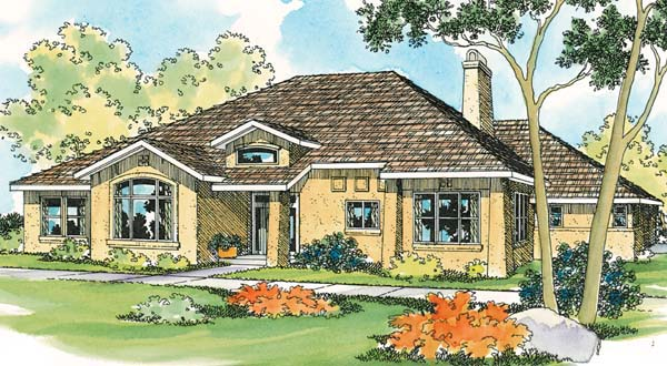 Traditional House Plan 69462 Elevation