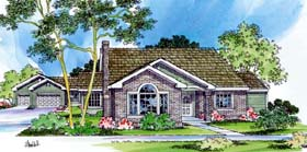 House Plan 69463 | Traditional Style Plan with 2056 Sq Ft, 3 Bedrooms, 3 Bathrooms, 3 Car Garage Elevation