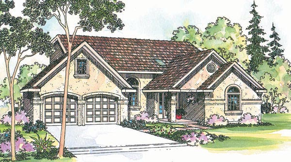 Cottage Country European House Plan 69464 Elevation