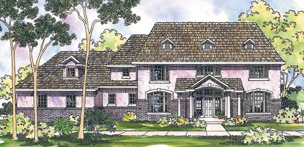 Colonial House Plan 69465 Elevation