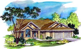 Traditional House Plan 69466 Elevation