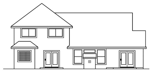 Traditional House Plan 69466 Rear Elevation