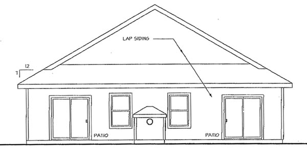 Traditional House Plan 69467 Rear Elevation