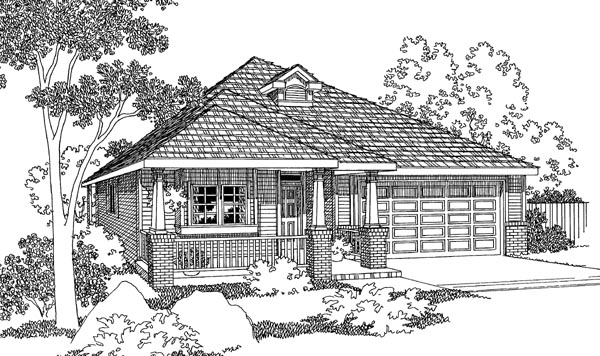 Bungalow House Plan 69468 Elevation