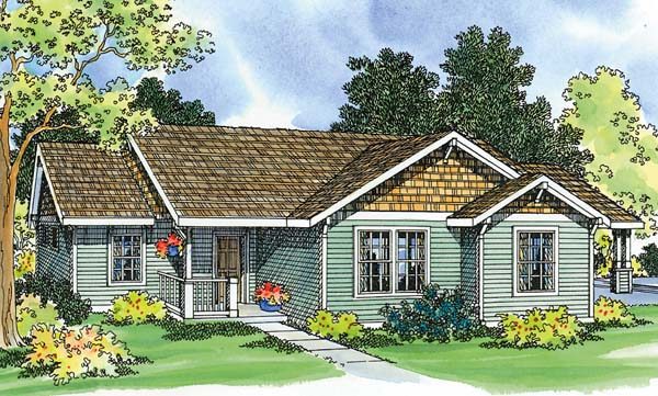 Ranch House Plan 69470 Elevation