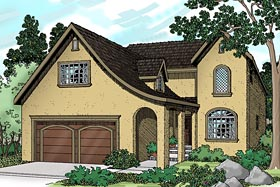 House Plan 69472 | Mediterranean Traditional Style Plan with 2192 Sq Ft, 4 Bedrooms, 2.5 Bathrooms, 2 Car Garage Elevation