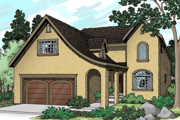 Mediterranean Traditional House Plan 69472 Elevation