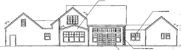 Traditional House Plan 69473 Rear Elevation