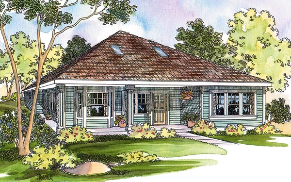 Contemporary Cottage Craftsman Traditional House Plan 69474 Elevation