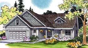 House Plan 69475 | Traditional Style Plan with 2591 Sq Ft, 5 Bedrooms, 4.5 Bathrooms, 2 Car Garage Elevation