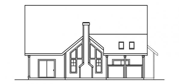 Traditional House Plan 69475 Rear Elevation