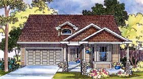 House Plan 69476 | Country Style Plan with 1822 Sq Ft, 3 Bedrooms, 2 Bathrooms, 2 Car Garage Elevation