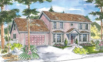 Colonial House Plan 69478 Elevation