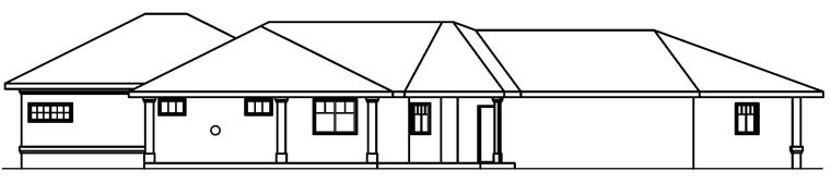 Mediterranean House Plan 69480 Rear Elevation
