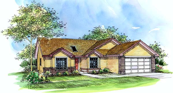 Ranch House Plan 69486 Elevation