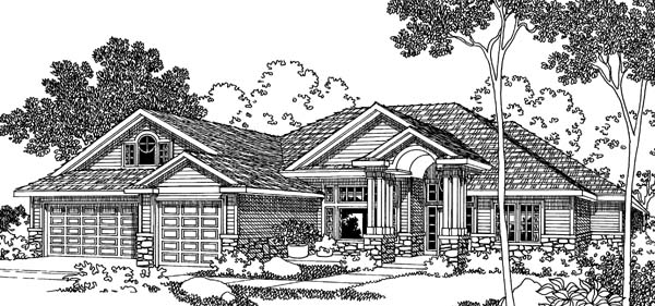 Traditional House Plan 69488 Elevation
