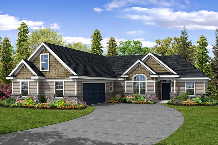 Ranch Traditional House Plan 69489 Elevation