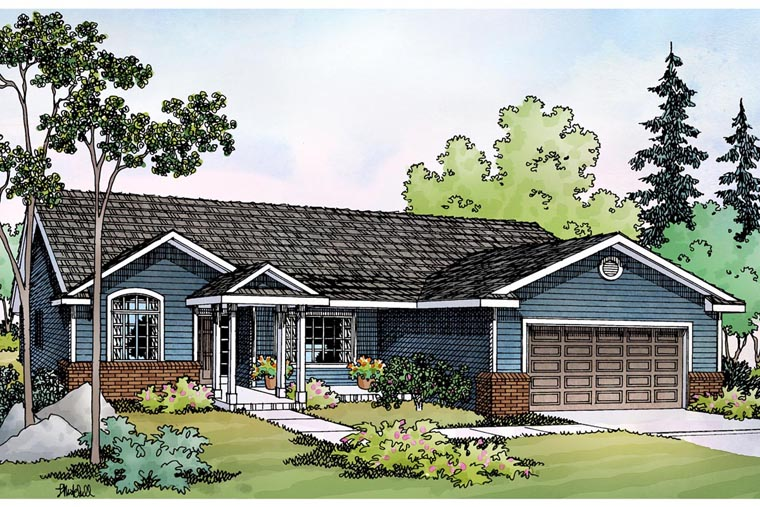 Ranch Traditional House Plan 69490 Elevation