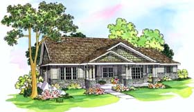 House Plan 69495 | Contemporary Style Plan with 2591 Sq Ft, 4 Bedrooms, 3 Bathrooms, 2 Car Garage Elevation
