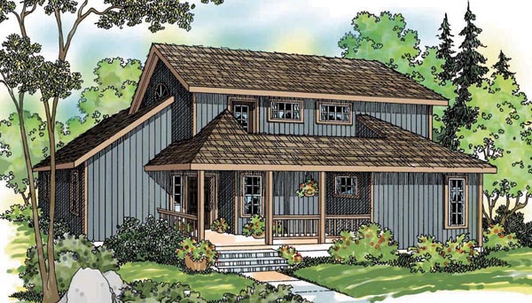 Cabin Craftsman House Plan 69496 Elevation