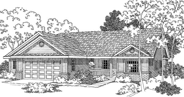 Ranch House Plan 69497 Elevation
