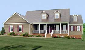 Country House Plan 69501 with 4 Beds, 3 Baths, 2 Car Garage Elevation