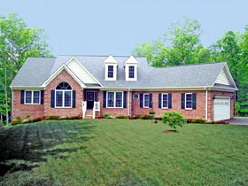 Country House Plan 69502 with 4 Beds, 3 Baths, 2 Car Garage Elevation