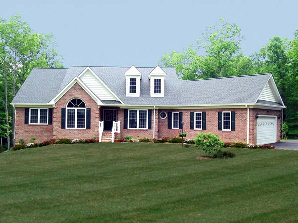Country House Plan 69502 with 4 Beds, 3 Baths, 2 Car Garage Picture 1