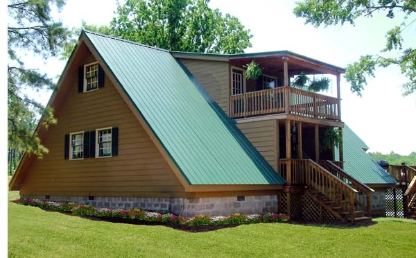 A-Frame Contemporary House Plan 69504 Rear Elevation